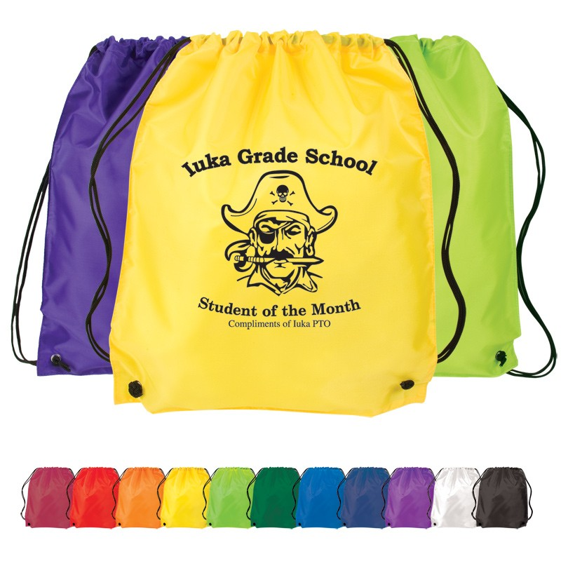 Custom Screen Printed Drawstring Backpacks - Promotional Products ...